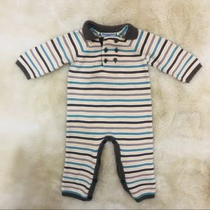 Janie and Jack Layette baby boy striped outfit